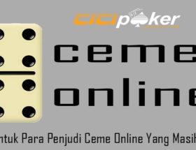 Saran Untuk Para Penjudi Ceme Online Yang Masih Pemula